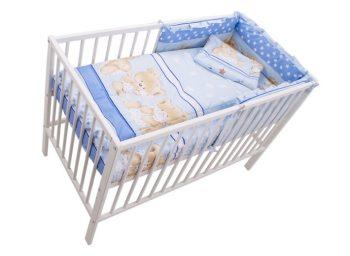 Mama Kiddies Sofie Dreams 4-dílná dětská dětská ložní souprava s mantinelem 180° - modrá