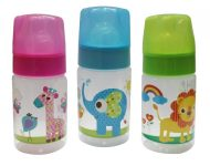 Baby Care kojenecká fľaša so ZOO zvieratkami, bez BPA - 125ml