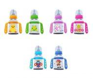 Baby Care Kojenecká fľaša  s držadlom 125ml - vo viacerých farbách
