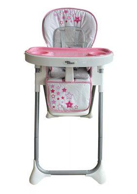 Máma Kiddies ProComfort Newline multifunkční jídelní židle růžová se vzorem hvězdiček + Dárek