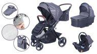 Dětský kombinovaný kočárek Mama Kiddies Luxury 3 v 1 v šedé barvě + dárek nánožník