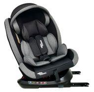 Dětská autosedačka Mama Kiddies Rotary Protect GT s 360 ° otáčením (0-36kg) s ISOFIX systémem, barva šedá + dárek clona proti slunci