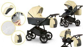 Dětský kombinovaný kočárek Mama Kiddies Flower Collection Lemonade 3v1 + dárek