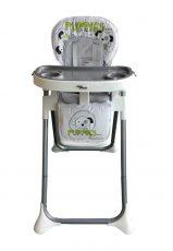 Mama Kiddies ProComfort Newline multifunkční jídelní židle šedá se vzorem pejsek + Dárek