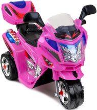 Tříkolová elektrická sportovní motorka v růžové barvě