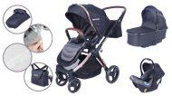 Dětský kombinovaný kočárek Mama Kiddies Luxury  3 v 1 v černé barvě + dárek nánožník