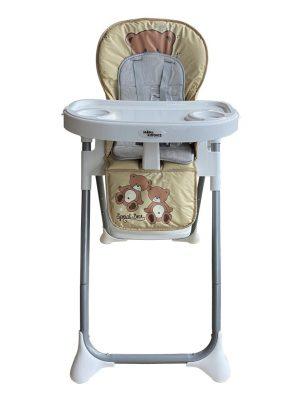 Mama Kiddies ProComfort Newline multifunkční jídelní židle béžová se vzorem macík + Dárek