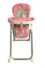 Mama Kiddies ProComfort Newline multifunkční jídelní židle růžová se vzorem anděla + Dárek