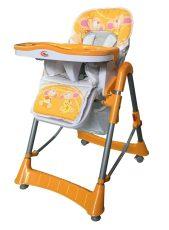 MamaKiddies ProComfort multifunkčná stolička na kŕmenie oranžová so vzorom zvieratiek + Darček