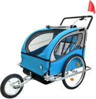 2 místný vozík za kolo v modro-černé barvě