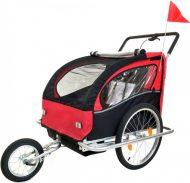 2 místný vozík za kolo v červeno-černé barvě