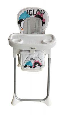 Mama Kiddies ProComfort Newline multifunkční jídelní židle bílá se vzorem tučňák + Dárek