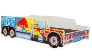 Mama Kiddies 160x80-cm dětská postel s designem Monster Truck - s matrací