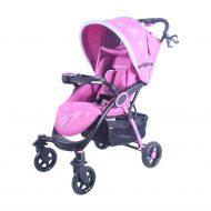 Detský športový kočík MamaKiddies Light4 Go, farba pink + Nánožník + Darček