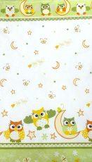 Mama Kiddies Baby Bear 2-dielna posteľná bielizeň pre škôlkárov v zelenej farbe so vzorom sova