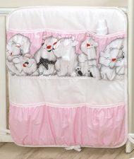 Mama Kiddies Baby Bear vrecko ružové so vzorom ľadový medvedík