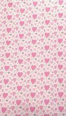 Mama Kiddies Baby Bear 2-dielna posteľná bielizeň v ružovejj farbe so vzorom srdiečka