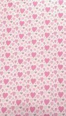 Mama Kiddies Baby Bear 2-dílné ložní prádlo v růžové barvě, se srdíčkovým vzorem
