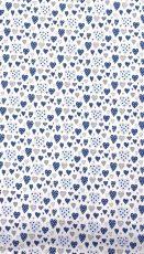 Mama Kiddies Baby Bear 2-dílné ložní prádlo pro školkařů v bleděmodré barvě, se srdíčkovým vzorem