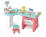 Mama Kiddies 27-dielny kompletný lekársky stôl so stoličkou a mnohými doplnkami v ružovo-modrej farbe