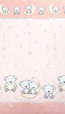 Mama Kiddies Baby Bear 2-dílná ložní prádlo pro školkařů v růžové barvě se vzorem macík