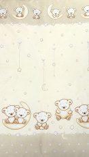 Mama Kiddies Baby Bear 2-dílná ložní prádlo pro školkařů v béžové barvě se vzorem macík