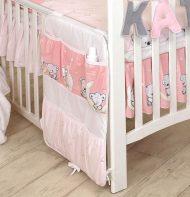 Mama Kiddies Baby Bear kapesní organizér růžový s macíkmi
