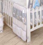 Mama Kiddies Baby Bear kapesní organizér šedý s macíkem