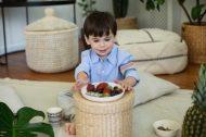 Ethnic bambus talíř