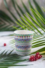 Ethnic Festive bambus hrnek