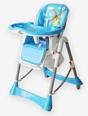 Detská multifunkčná jedálenská stolička MamaKiddies Star, farba modrá so vzorom + DARČEK