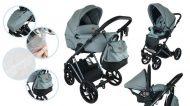 Dětský multifunkční kočárek Mama Kiddies Earth Collection 3v1 v barvě skyblue + dárky