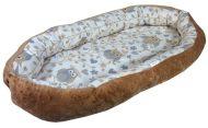 Komfortní dětské hnízdo hnědé se sovička