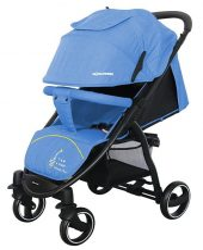 Mama Kiddies Aqua sportovní kočárek v modré barvě + DÁRKY: nánožník a pláštěnka