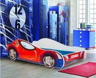 Mama Kiddies dětská postel 160x80-cm s designem Spider-man a s matrací