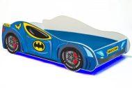 Mama Kiddies 160x80-cm dětská postel s designem Batcar- s matrací