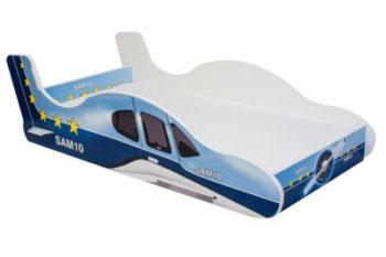 Mama Kiddies 160x80-cm dětská postel s letadla modro bílá
