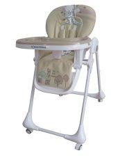 Dětská multifunkční jídelní židle Mama Kiddies Ariel světlehnědá (the best friend edition)