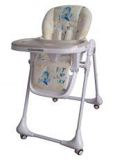 Dětská multifunkční jídelní židle Mama Kiddies Ariel béžová se vzorem létajícího zajíčka