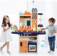 65 kusová Mama Kiddies KitchenStar set detská kuchynka - v oranžovo-modrej farbe