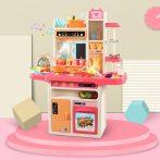 65 kusová Mama Kiddies KitchenStar set dětská kuchyňka - v růžové barvě