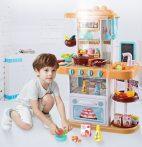 43 kusová Mama Kiddies KitchenStar set dětská kuchyňka - v oranžové barvě