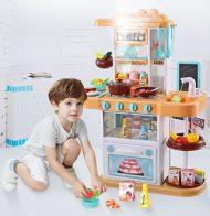 43 kusová Mama Kiddies KitchenStar set detská kuchynka - v oranžovej farbe