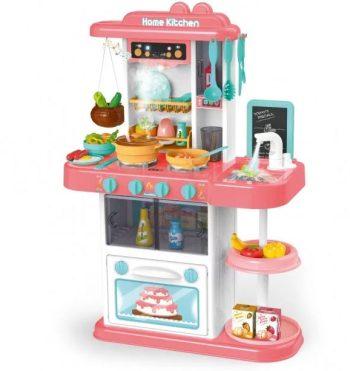 43 kusová Mama Kiddies KitchenStar set dětská kuchyňka - v růžové barvě