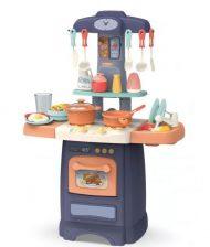 29 kusová Mama Kiddies Effluent Kitchen dětská kuchyňka - v modré barvě