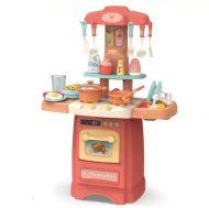 29 kusová Mama Kiddies Effluent Kitchen dětská kuchyňka - v růžové barvě