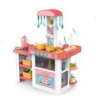 55 kusová Mama Kiddies HomeKitchen set dětská kuchyňka - v růžové barvě