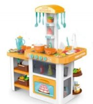55 kusová MamaKiddies HomeKitchen set detská kuchynka - v oranžovej farbe