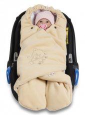 Baby Nellys dětská zavinovačka fusak polar / bio bavlna - béžová