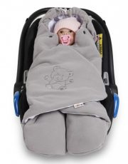 Baby Nellys dětská zavinovačka fusak polar / bio bavlna - šedá
